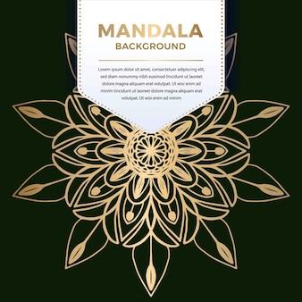 Luxury ornamental mandala pattern design in gold color   illustration