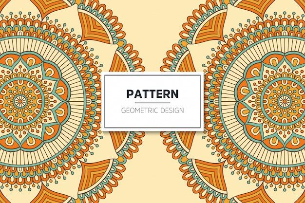 럭셔리 장식 만다라 패턴 디자인 무료 벡터
