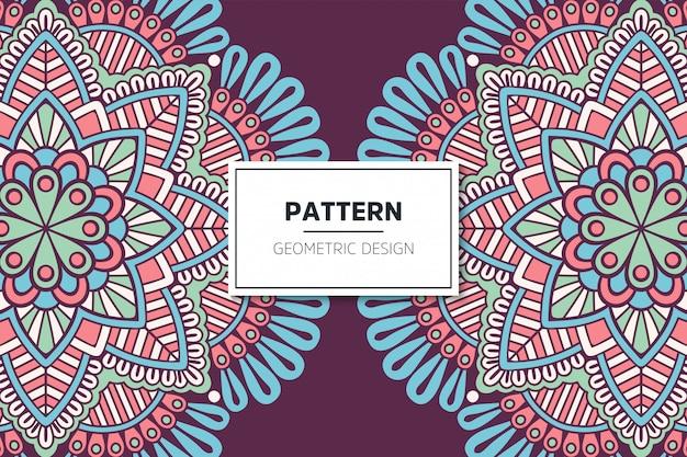 럭셔리 장식 만다라 패턴 디자인