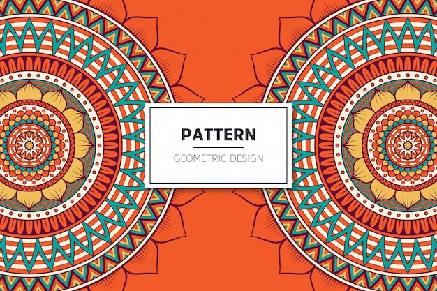Luxury ornamental mandala pattern design