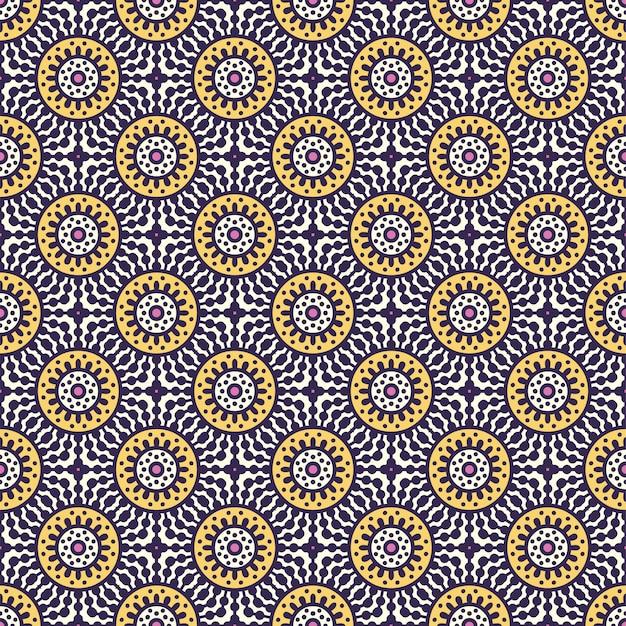 豪華な装飾的なマンダラパターン