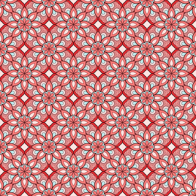 럭셔리 장식 만다라 패턴