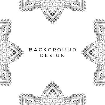 고급 장식 만다라 원활한 패턴 디자인