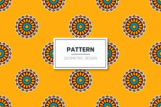 Luxury ornamental mandala seamless pattern in gold color vector