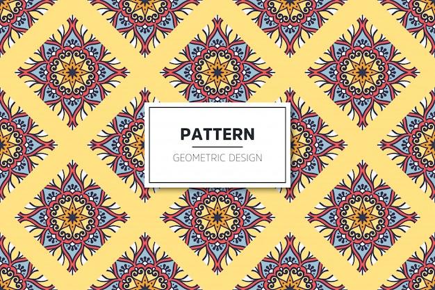 ゴールドカラーベクトルで豪華な装飾的なマンダラシームレスパターン