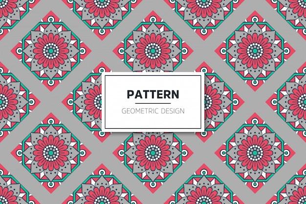 골드 컬러 벡터에서 럭셔리 장식 만다라 원활한 패턴