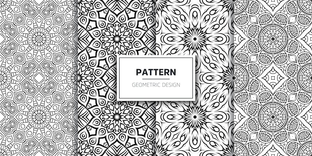 Luxury ornamental mandala seamless pattern