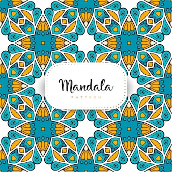 Luxury ornamental mandala seamless pattern