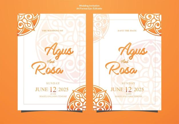 Luxury ornamental mandala wedding invitation