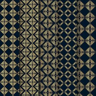 럭셔리 장식 원활한 인사말 카드 패턴 세트