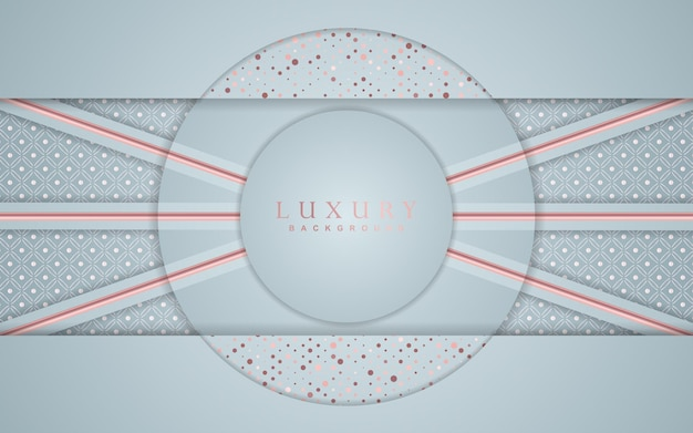 Luxury overlap  background with rose gold element decoration