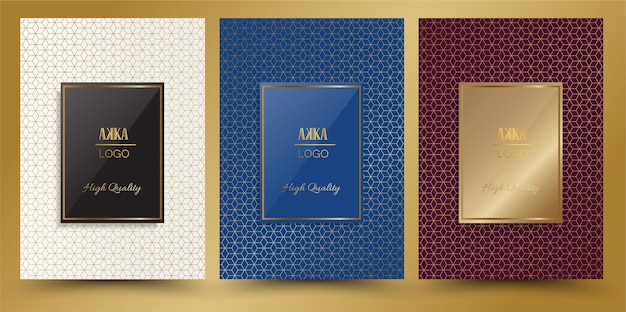Luxury package or cover design