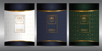 Luxury Package Menu Cover Design Geometric