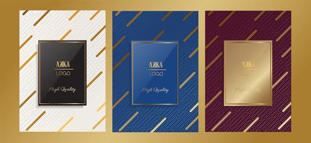 Luxury package menu cover design geometric