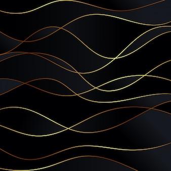 Роскошная бумага отрезала предпосылку, абстрактное украшение, золотую картину, иллюстрацию 3d.