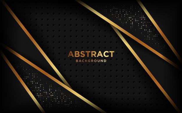 Роскошная бумага вырезать фон, абстрактные украшения, золотой узор, градиенты полутонов.