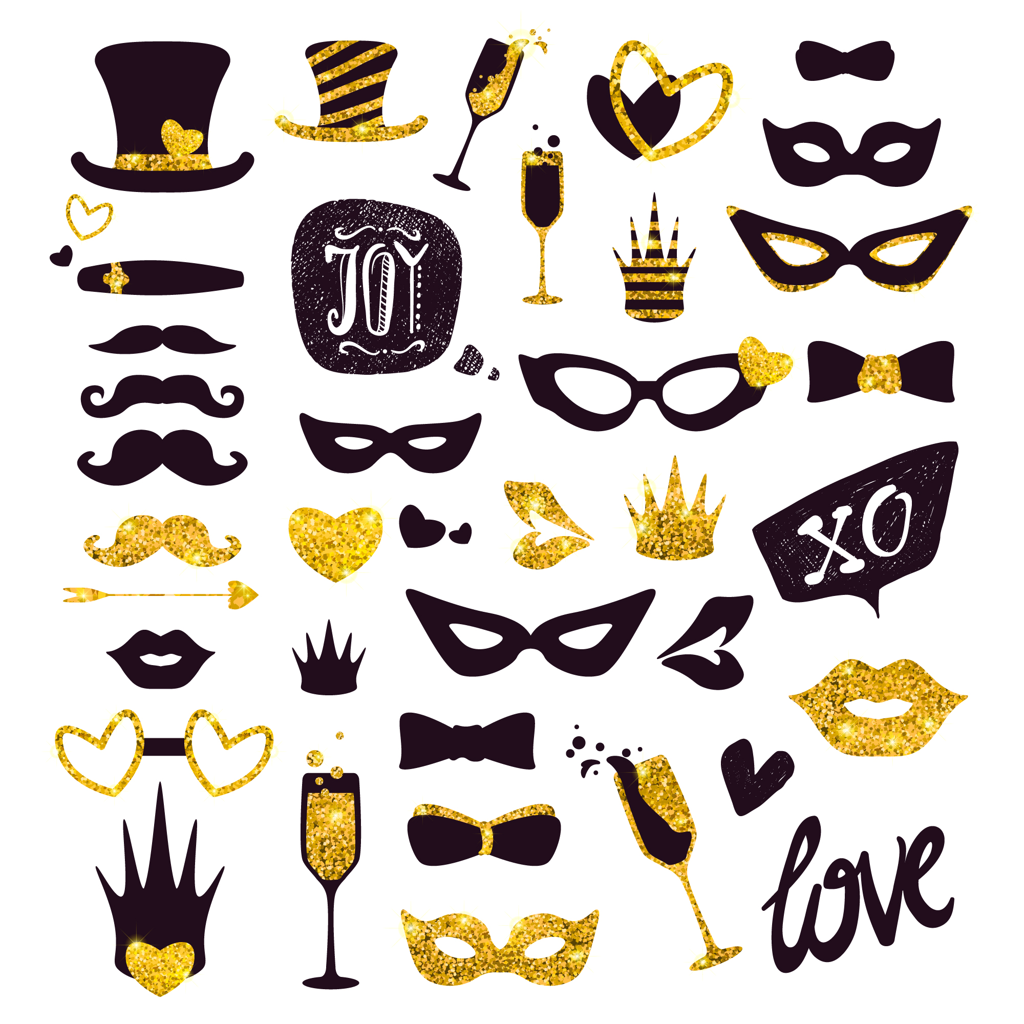 Luxury party masks and complements collection