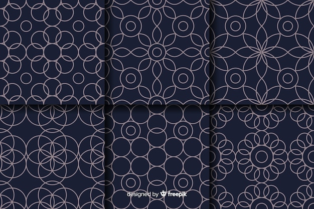 Luxury pattern collection background
