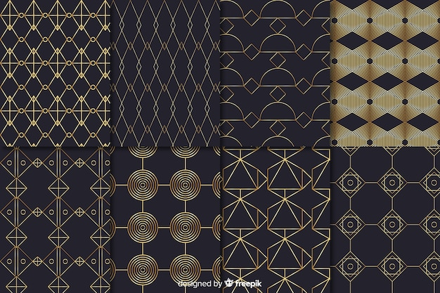 Luxury pattern collection shapes concept
