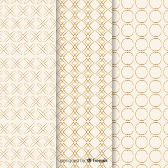 Luxury pattern collection with geometric shapes