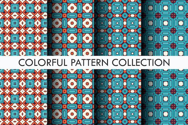 럭셔리 패턴 설정 다채로운 개요