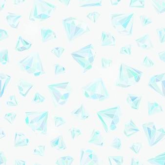 きらめくブリリアントの豪華なパターンは、ダイヤモンドとシームレスなパターンをベクトルします