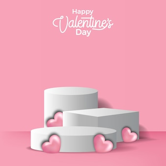 Luxury pedestal podium stage for product display valentine's day