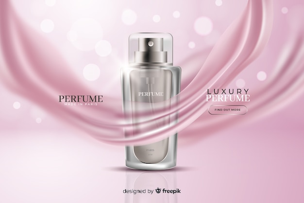 Luxury perfume ad