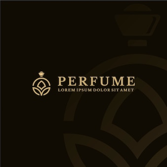 Luxury perfume logo template