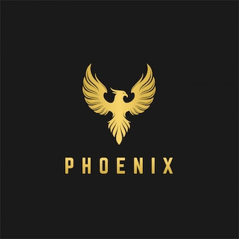 Luxury phoenix logo design