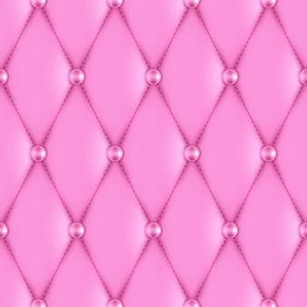 高級ピンク革張りのシームレスパターン