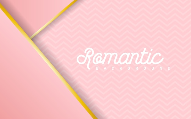 Luxury pink pastel abstract background combine with golden lines element