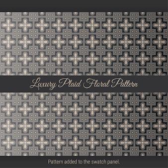 럭셔리 격자 무늬 꽃 패턴. 고급 아랍어. 플로랄 패턴