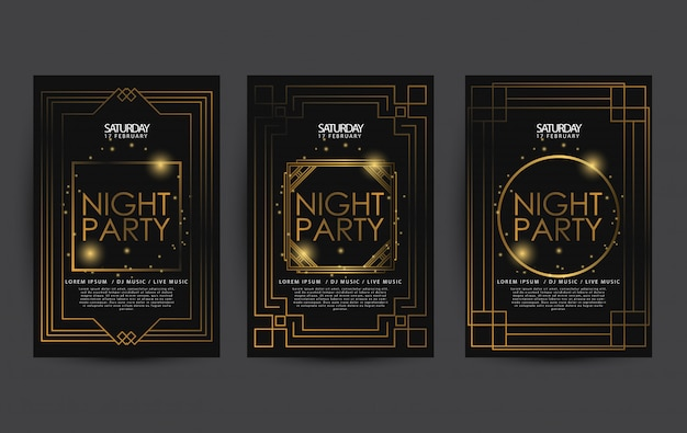 Luxury poster template