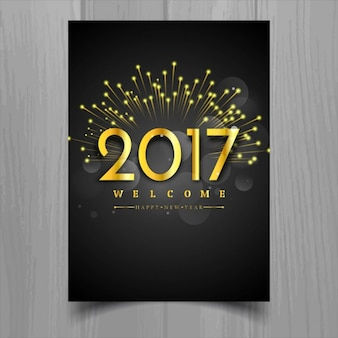Luxury poster with golden numbers for new year