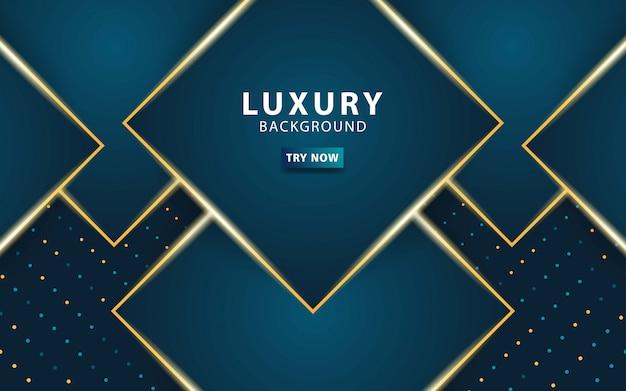 Luxury premium dark blue abstract overlay layers background