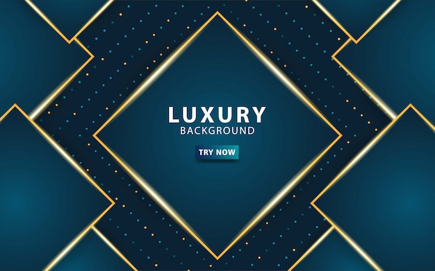 Luxury premium dark blue abstract overlay layers background.