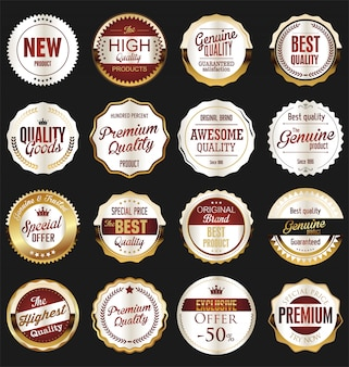 Luxury premium golden badges