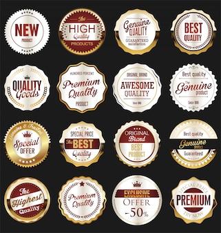 Luxury premium golden badges