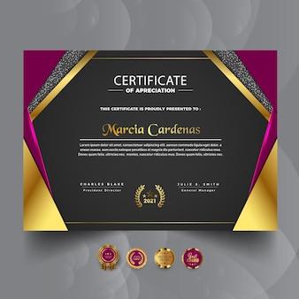 Luxury professional certificate template