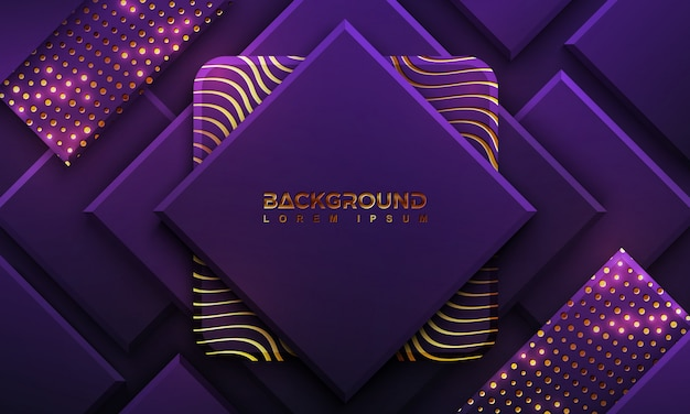 Luxury purple background with a combination of dots and lines.