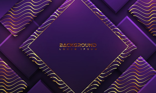 Luxury purple background with a combination lines.
