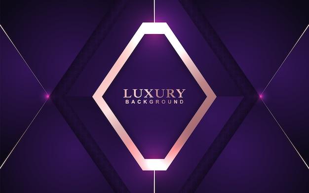 金の装飾と豪華な紫色のオーバーラップ背景