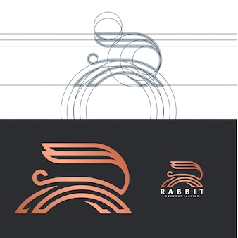 Luxury rabbit logo
