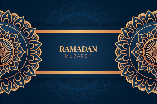 Luxury ramadan kareem background