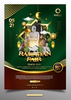 Luxury ramadan kareem event poster