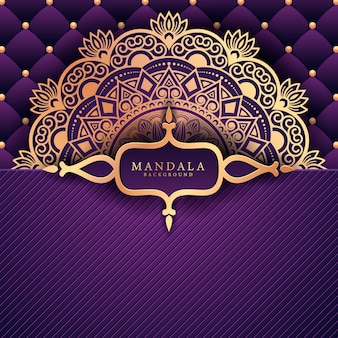 Luxury ramadan kareem mandala background greeting card