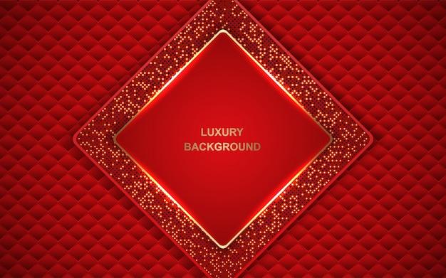 金色に輝く装飾が施された豪華な赤の背景