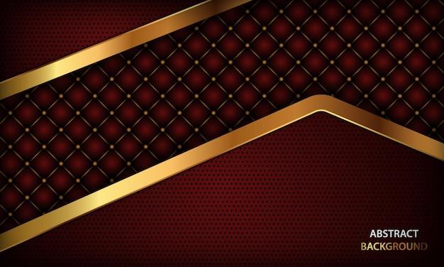 질감과 황금색 선이 있는 고급스러운 빨간색 배경