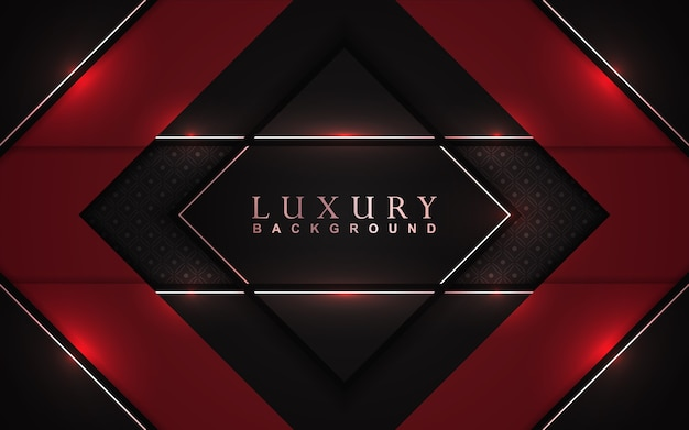 Luxury red and black background with golden decoration
